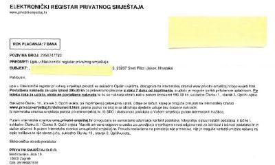 Elektronički registar privatnog smještaja